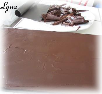 Bûche à la mousse de chocolat noir Byche210