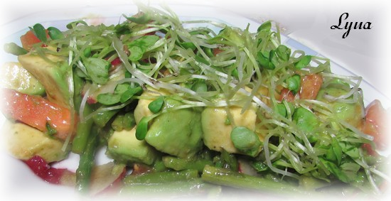Salade d'asperges et avocat Salade16