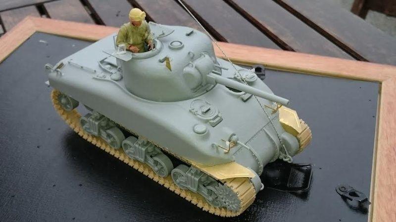 Sicile 1943 Opération Husky - Sherman M4A1 DV  Dragon 1/35 She_110