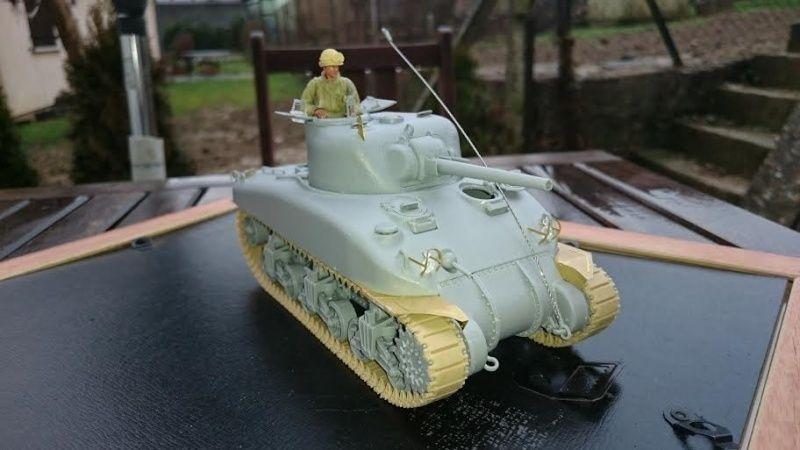 Sicile 1943 Opération Husky - Sherman M4A1 DV  Dragon 1/35 She_210