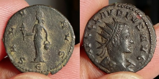Ae3 Constantin Constantinople antoninien Claude II Antioche Picsar11