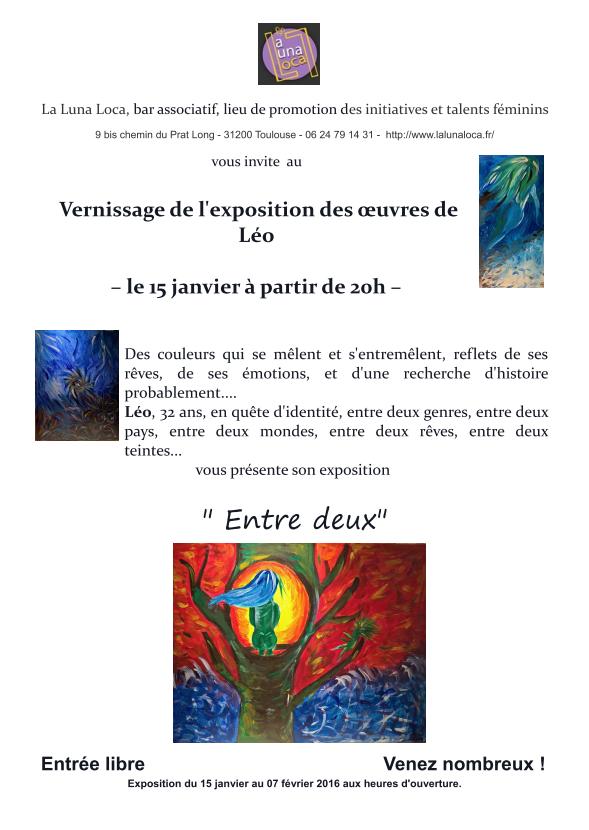 "Expo de Léo (membre de Toolez) à ""La Luna Loca"" ce vendredi 15 janvier Invita10"