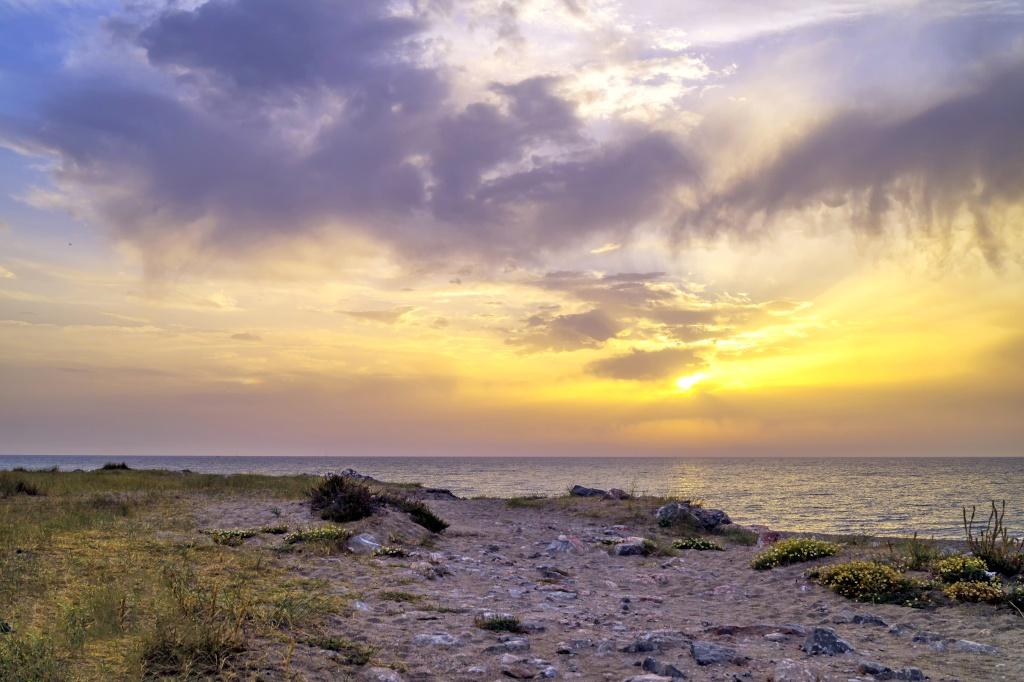 Lever de soleil sur Barcares Dsc03910