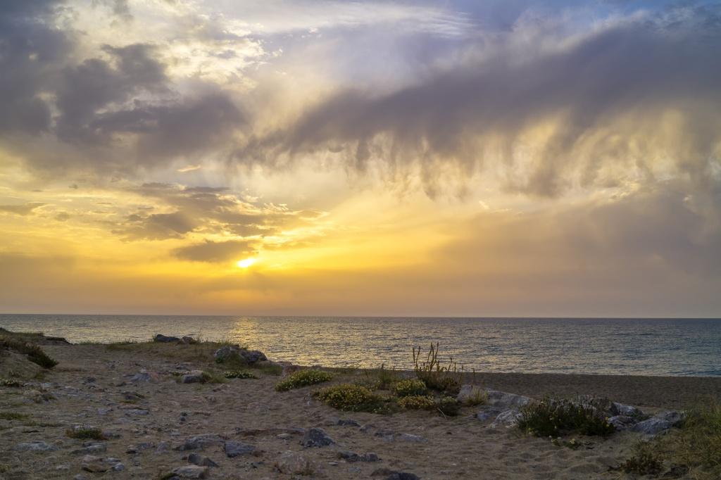 Lever de soleil sur Barcares Dsc03912