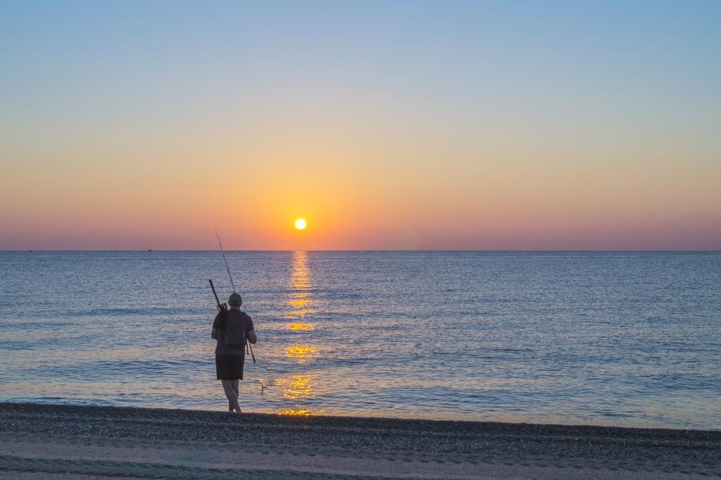 Lever de soleil sur Barcares Dsc08710