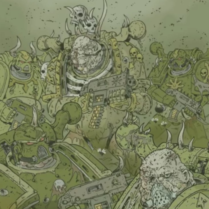 [W40K] Collection d'images : Space Marines du Chaos - Page 9 Plague10