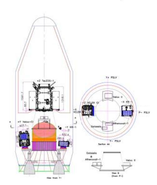 Lancement PSLV(CA) C29 - TeLEOS-1 + KR 1 + VELOX C1 + VELOX 2 + Galassia  - 16 Décembre 2015   Captur10