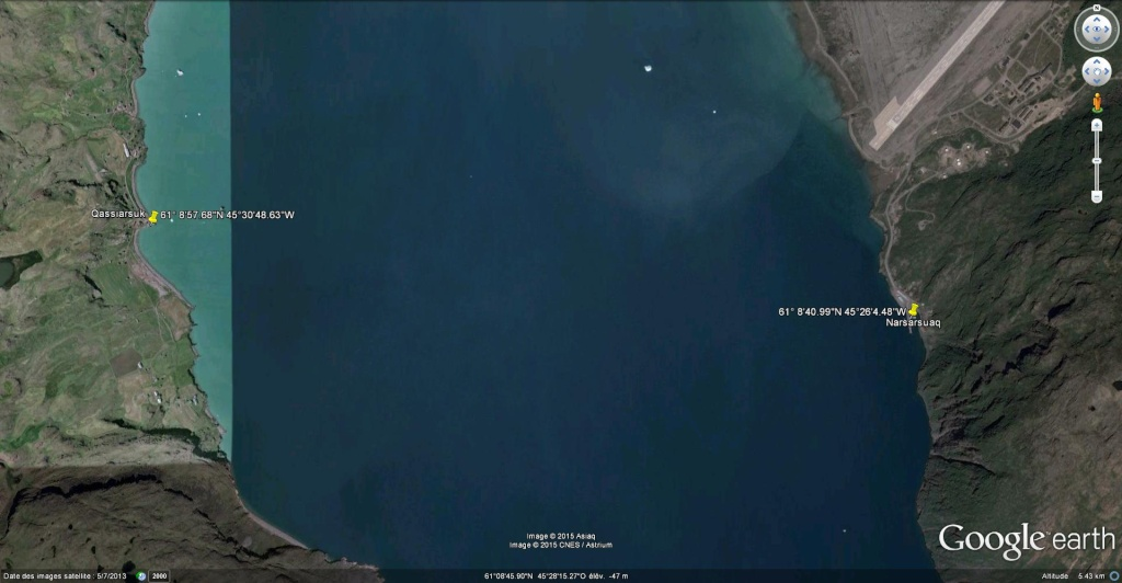 Traversée d'Qassiarsuk vers Narsarsuaq, Kujalleq au Groenland. Qassia11