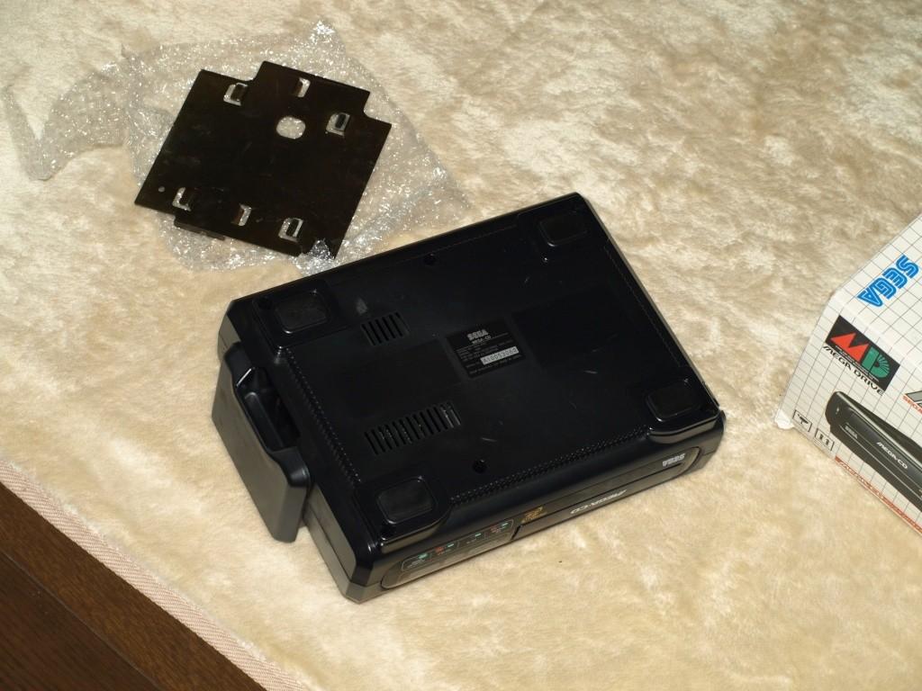 [VDS] Mega-CD1 jap en boite avec condensateurs et lentille a changer P1136414