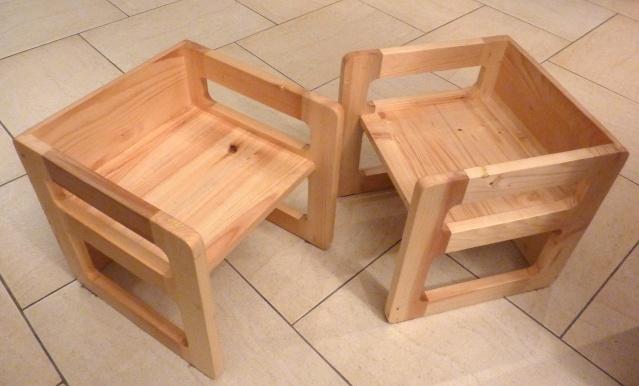 Table basse en bois de récup' Chaise10