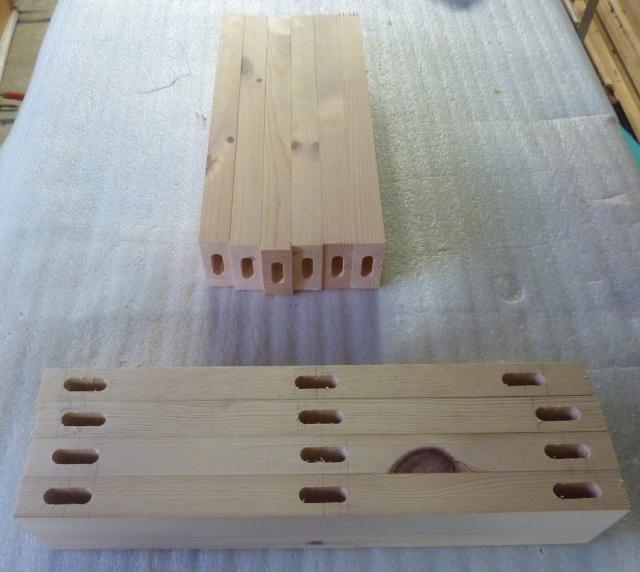 Table basse en bois de récup' Mortai11