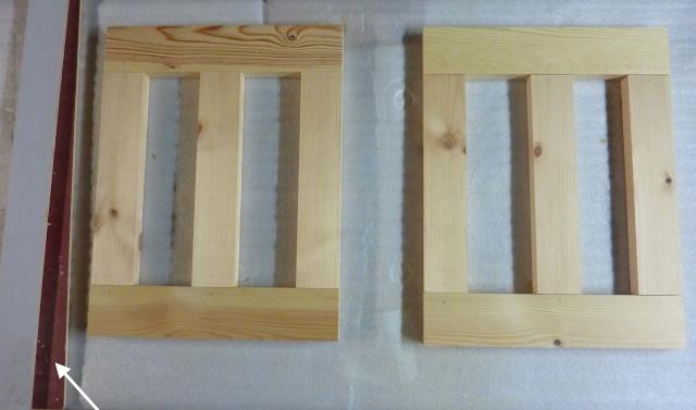 Table basse en bois de récup' Pieds10