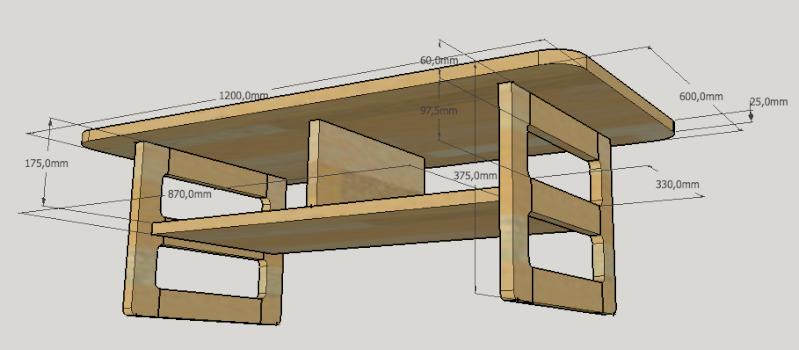 Table basse en bois de récup' Plan11