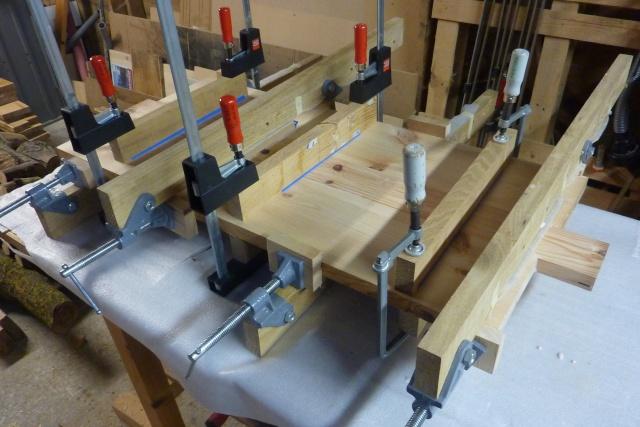 Table basse en bois de récup' Platea12