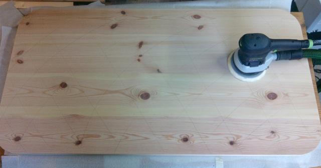 Table basse en bois de récup' Ponyag10