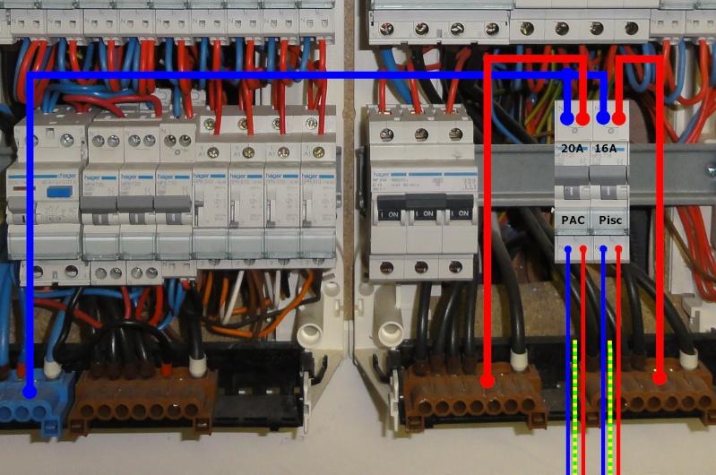 Aide raccordement électrique du coffret W****** et de la PAC sur le tableau de la maison Tablea10