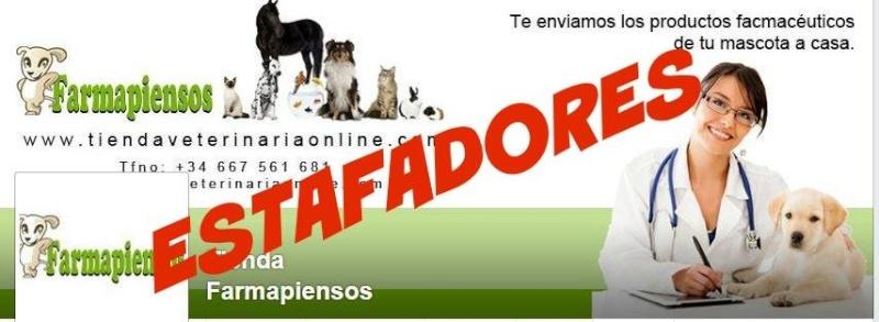 Presentamos denuncia por ESTAFA a Tiendaveterinariaonline = Farmapiensos 10850211