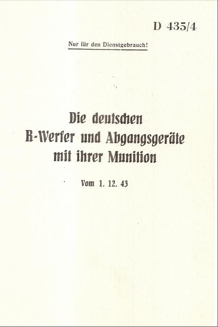 D 435-4 Die deutschen R-Werfer und Abgangsgeräte mit ihrer Munition Sans_t32