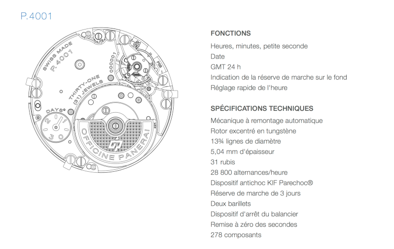 Communiqué de Presse SIHH 2016: RADIOMIR 1940 3 DAYS GMT AUTOMATIC ACCIAIO – 45mm - PAM00627 & PAM00657 Captur12