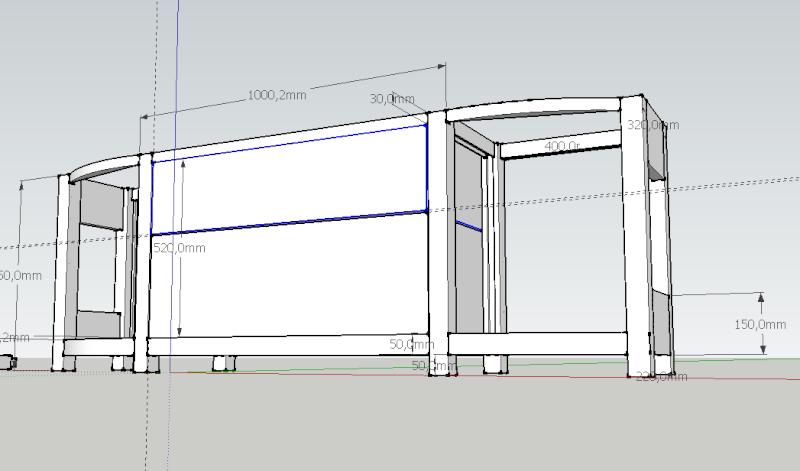 cuisine en noyer et frêne massif...de la conception à la réalisation . - Page 10 Consol11