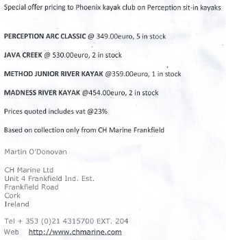 Special Offer Kayaks to Phoenix Members - CH Marine Untitl10