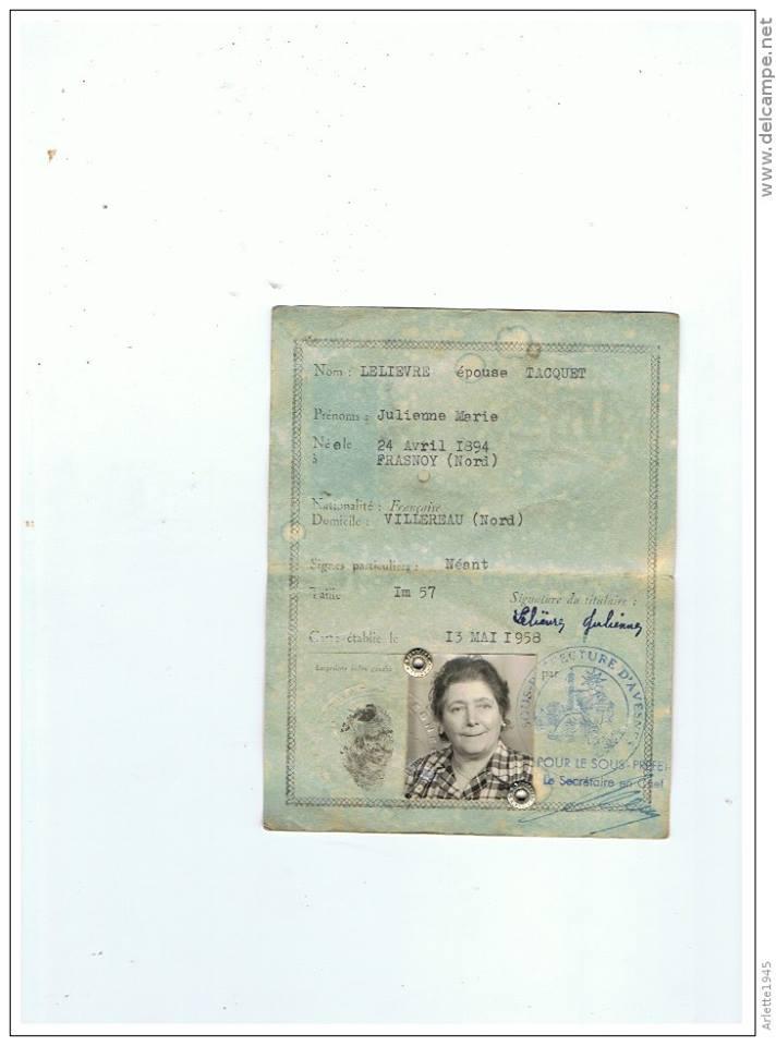 Cartes d'identité 10376311