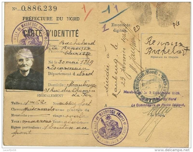 Cartes d'identité 19101510