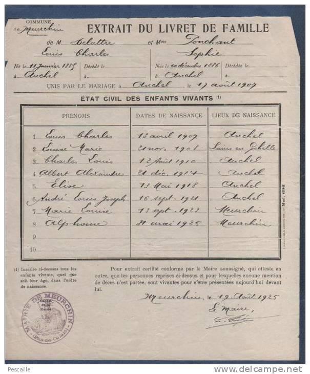 Livrets de famille 19140210