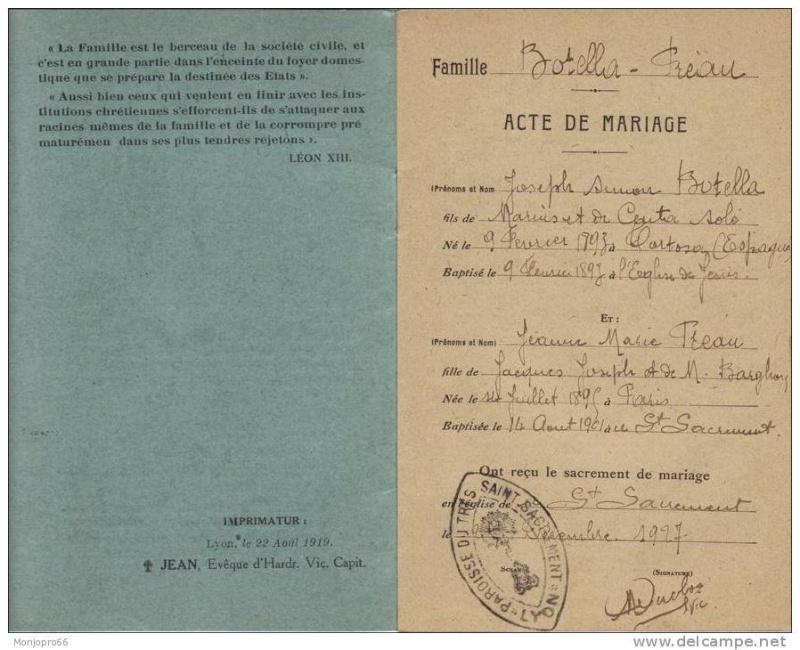 Livrets de famille 19142210
