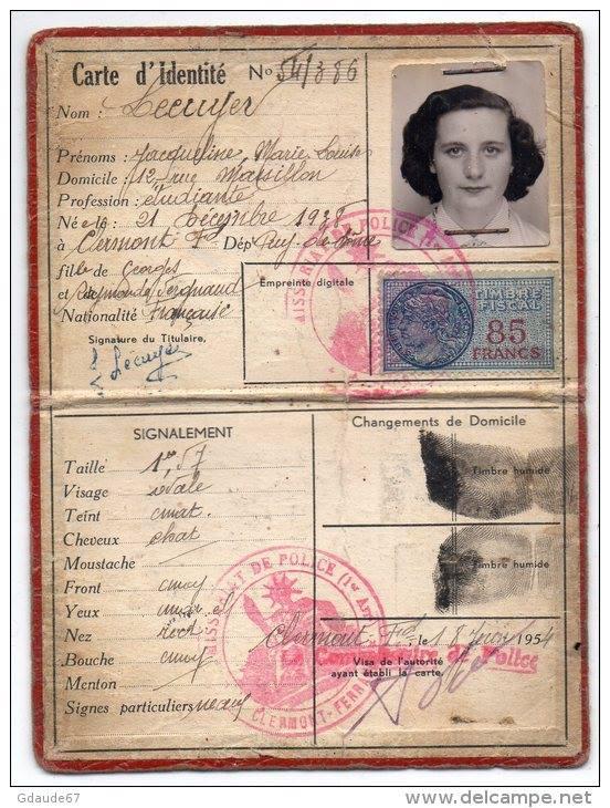 Cartes d'identité 19166310