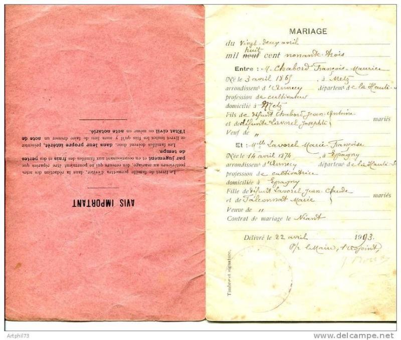 Livrets de famille 19312410