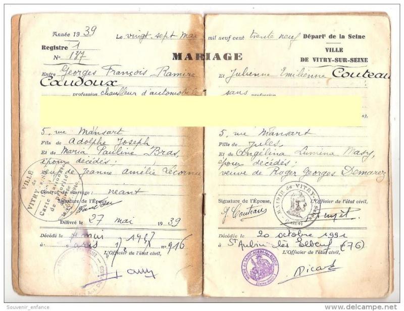 Livrets de famille 19347710