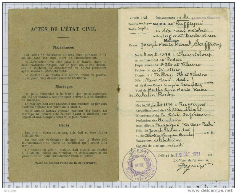 Livrets de famille 19353811