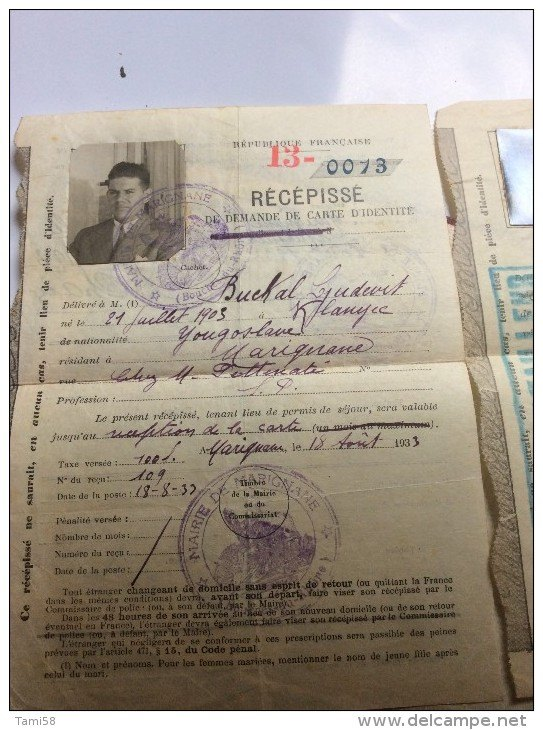 Cartes d'identité 19370010