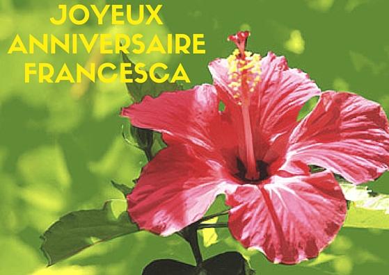 HappY BirthDay Francesca ♥ Joyeux10