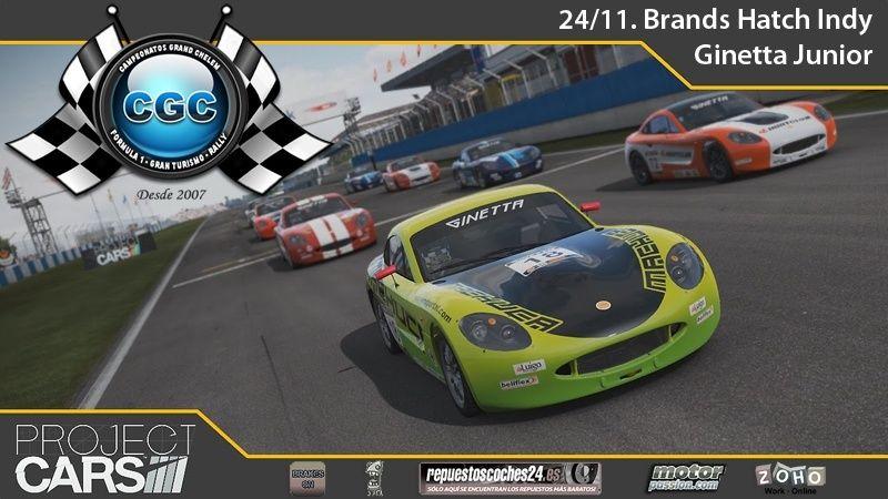 3º EVENTO PROJECT CARS PS4. Brands Hatch Indy con el Ginetta Junior Evento10