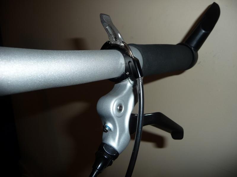 Commande de dérailleur pour 3 pignons sur une roue libre [Brompton 9 vitesses] •  P1030111