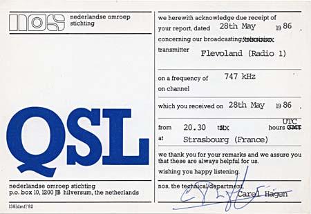 Les anciennes QSL's des membres du Forum - Page 4 Flevol10