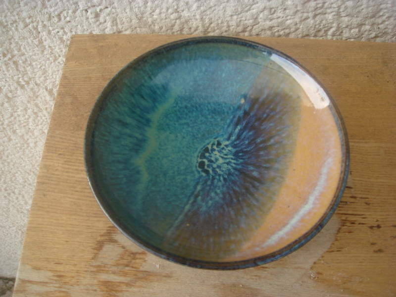 blue glazed dish, rb mark - Rupert Blamire, Bristol  Copied37