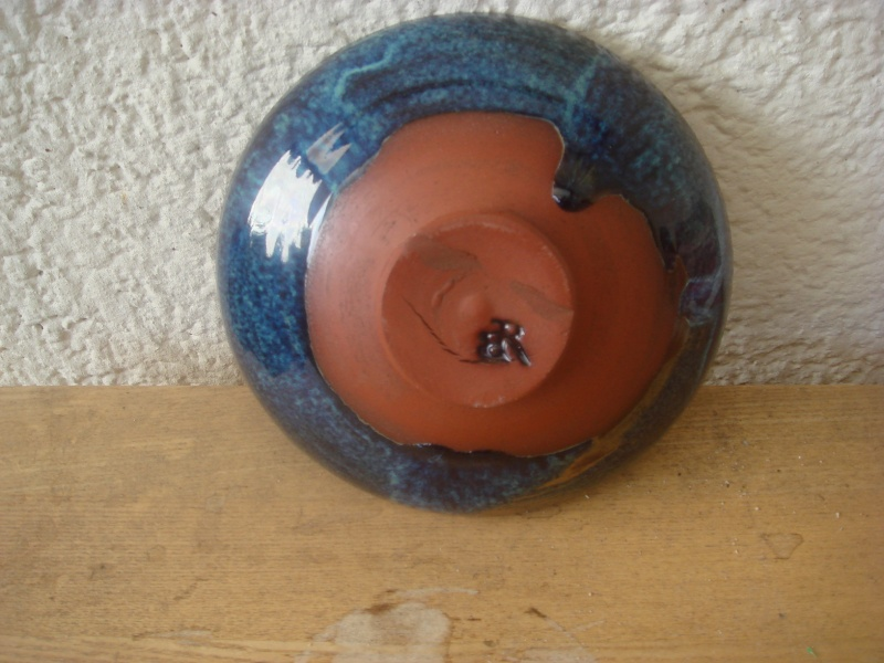 blue glazed dish, rb mark - Rupert Blamire, Bristol  Copied38