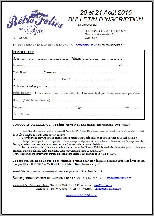Rétrofolies à SPA, les 20 et 21 août 2016. Spa110