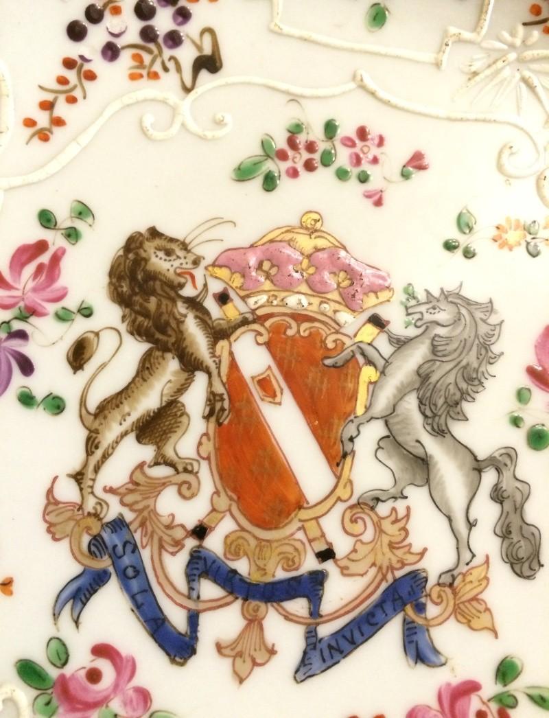 19thC Samson armorial plate Image103
