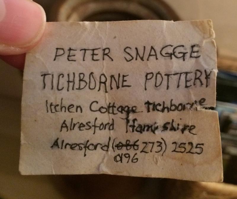 Large jug with prunts - Peter Snagge, Tichborne Pottery nr. Alresford Image144