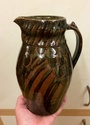 Tenmoku jug with bird feather pattern - Frith like but not by Iain Denniss Image156