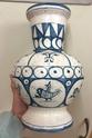 Tin glazed maiolica vase, bird motif - Benlloch Pottery, Spain Image266