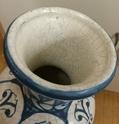 Tin glazed maiolica vase, bird motif - Benlloch Pottery, Spain Image269
