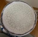 Tin glazed maiolica vase, bird motif - Benlloch Pottery, Spain Image270