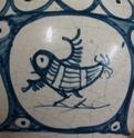 Tin glazed maiolica vase, bird motif - Benlloch Pottery, Spain Image271