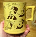 Widecombe Fair slipware mug - Devon Tors Pottery, Bovey Tracey Image293