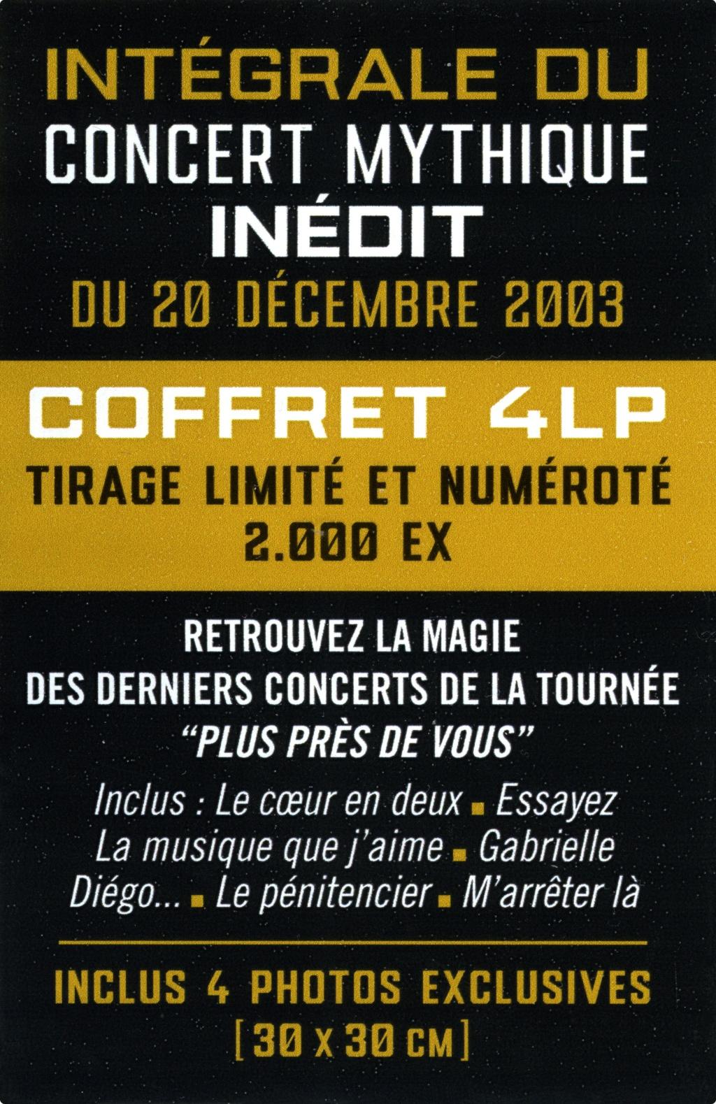 Le coffret 4 LP Bercy 2003 2020-185